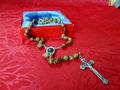 betlemme legno di ulivo rosario fatto a mano con il terreno sacro suolo