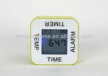 square auto flip desk alarm clock