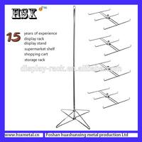 4-tier Spinning Floor Rack rotating display stand/display case/rotating display motor