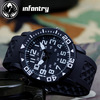 INFANTRY Men's Outdoor Fashion Black 24 Hours Quartz Wrist Watch Silicone Strap NEW Design