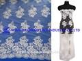 Yjc33040 new design frisada bordados noiva laços tecidos