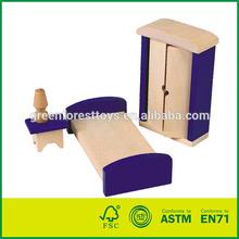 Children Pretend Toy Wooden Miniature Furniture