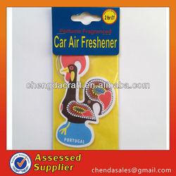 wholesale 2015 new car scent cstom make hanging paper car air freshener
