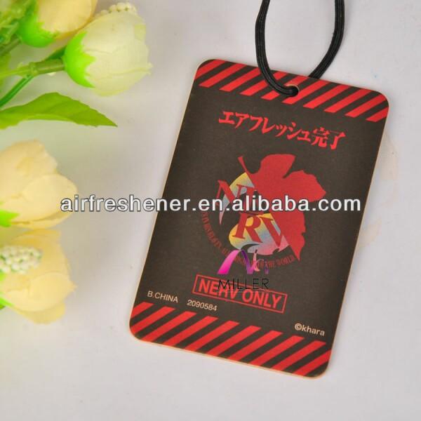 2015 nuevos productos de papel tarjeta de olor a rosa ambientadoresdecoches
