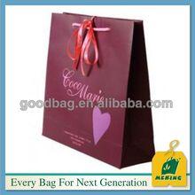 2014 Sacchetti di carta lucida arte,MJ-B061,China manufacturer