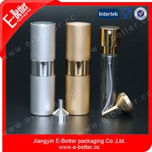 Silver aluminum rotary perfume glass bottle