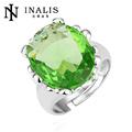 Lekani big luxuoso jóias dubai brincos de esmeralda R159