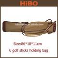 Prestige 6 bâtons en toile et cuir ou pu imperméable à l'eau sac de golf