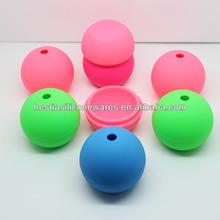 Venta al por mayor libre de BPA FDA grado antiadherente reutilizable esfera de hielo moldes de maquillaje 6 cm hielo esfera