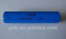 ER10450 Li-SOCl2 ER10450 750mah Li-SOCI2 Primary Lithium Battery Widely used in electricity, gas and flow instrumentatio