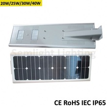 Integrated solar panel/battery/controller/led light planets of the solar system