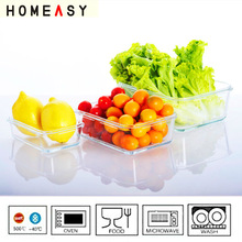 High borosilicate glass food storage container to keep food hot