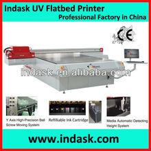 Indask ricoh head uv printer/uv flatbed wideformat printer printing machine