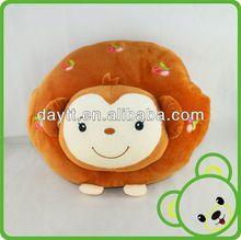 Carrefour supplier cute animal design pillow printed animal pillow