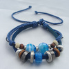 Braided Leather Bracelet for Women Genuine Leather Snap Adjustable