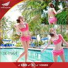 Pink and blue fold design 3 pieces very hot sexi girl bikini