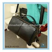 Black solid shoulder bag fashion totes lady
