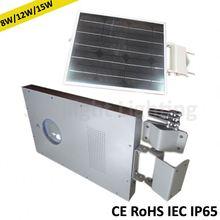 Easily placed integral solar led street light system solar membrane
