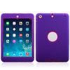 NEW Design Silicone PC Robot Case for iPad mini2-Purple