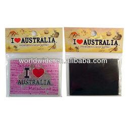 Colorful Printed Fashionable Aluminium Foil Magnets For Fridge
