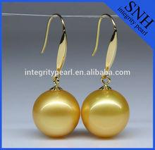 14K south sea pearl earring gold jewelry