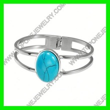 2015 most popular bulk lots stainless steel turquoise bangle vicky