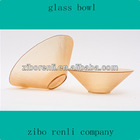 New Arrival Modern Home Decoration Colored Dinnerware Oval Glass Bowl