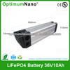 OEM Deep Cycle 36V 10AH LiFePO4 Electric Bike Battery Made in China