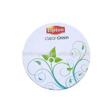 branding ad logo picture customisable paper tissue coaster