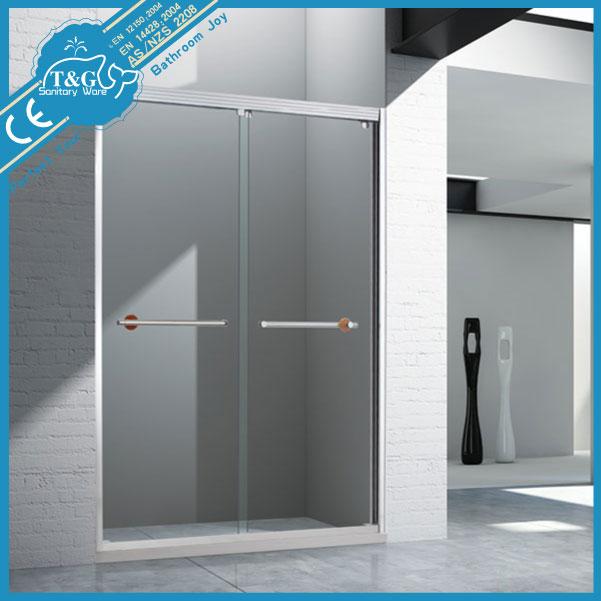 Tremp verre double de porte coulissante de douche pour - Porte coulissante salle de bain verre ...