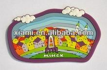 3D souvenir soft pvc rubber fridge magnet