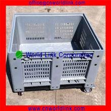 Plastic 5 Wheels Transport Container Pallet
