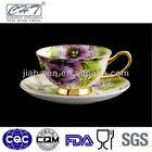 Fine bone china personalized ceramic tea cup and saucer set