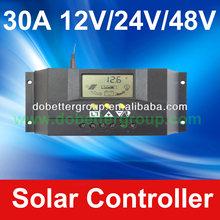 12V/24V/48V 30A PWM charge solar controller