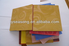 one side laminated MDF board with rose flower melamine faced