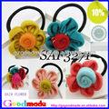 clássico malha hairband flores feitas à mão de lã e