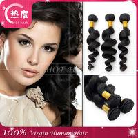 100% 5A Unprocessed raw virgin brazlian hair loose wave brazilian human hair weaving
