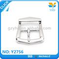 china fabricación al por mayor yourselft níquel logotipo de color de capa de metal hebilla de cinturón