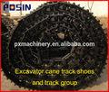 Alta calidad partes tren de aterrizaje zapato pista/ Almohadilla pista excavadora/ Zapato pista excavadora y grupo pista