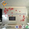 Adhesivo de la decoración de la pared espejo etiqueta/de papel de pared de flores etiqueta etiqueta/gran extraíble pegatinas de pared