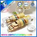 3.5 inç 12 adet doğal ahşap renkli kalem kalemtıraş/çizim doğal renkli kalem