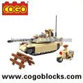 cogo البلاستيك ربط المستورد من الدبابات ألعاب diy اللعب الصينية