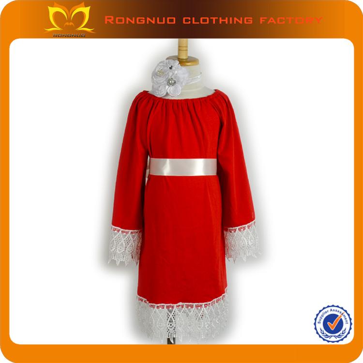 bambini vestiti della ragazza lungo da sera vestito rosso lungo abito da sposa manica 2014 vendita calda