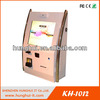 touch screen wall mounted kiosk with barcode scanner,bill validator and printer