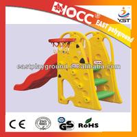 2014 China childrens outdoor playground cheap plastic slide animal small slide