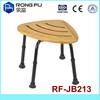 L56xW41xH34-46CM(6holes)bath wooden shower chair for disable/elderly (Foshan)