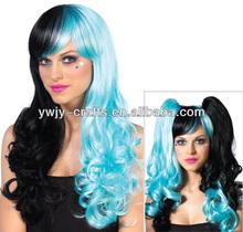 Fashion Kanekalon Cosplay Wig With Ponytails