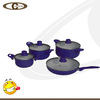 Heat resistant paint coating aluminium ceramic cookware set