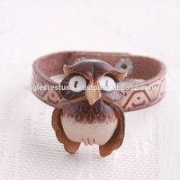 Handmade Leather Owl Bracelets