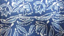 KTCF-9 Dabu Printed Pure Cotton Fabric Multiple Use Designer Hand Block Printed Cotton Fabrics Indigo Blue Fabric From Jaipur